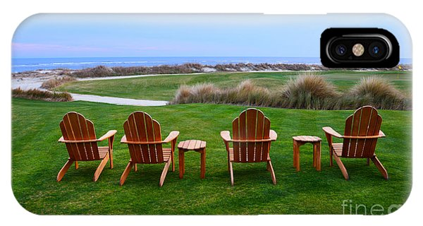 Chairs At The Eighteenth Hole IPhone Case