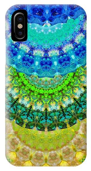 Symmetry iPhone Case - Chakra Mandala Healing Art By Sharon Cummings by Sharon Cummings