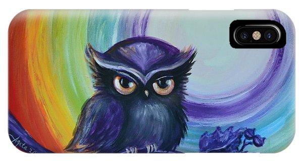 Chakra Meditation With Owl IPhone Case
