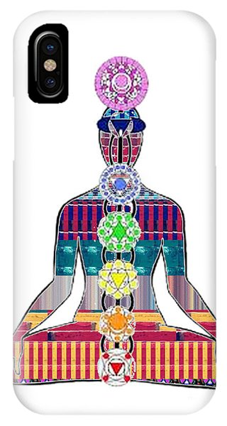 Chakra Yoga Mandala  Buy Faa Print Products Or Down Load For Self Printing Navin Joshi Rights Manage IPhone Case