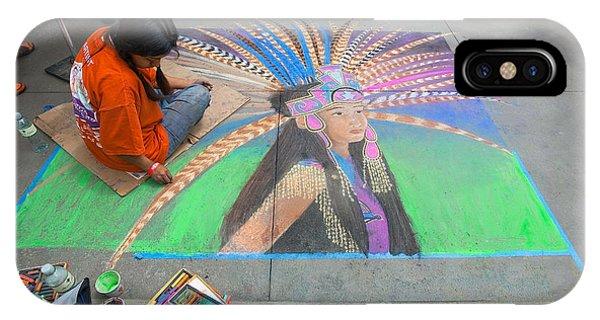 Pasadena Chalk Art - Street Photography IPhone Case