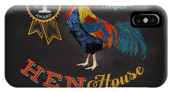 Dinner iPhone Case - Chalkboard Poster For Chicken by Lanan