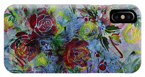 iPhone Case - Chambray Blooms by Julie Acquaviva Hayes
