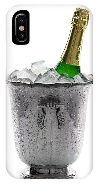 Wet iPhone Case - Champagne Bottle On Ice by Johan Swanepoel