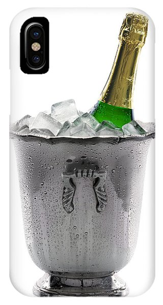 Champagne Bottle On Ice IPhone Case