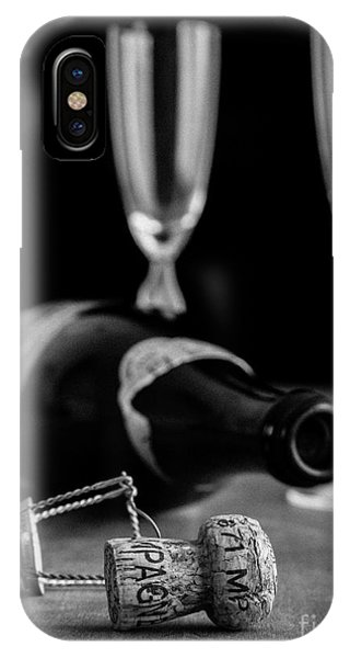 Beverage iPhone Case - Champagne Bottle Still Life by Edward Fielding