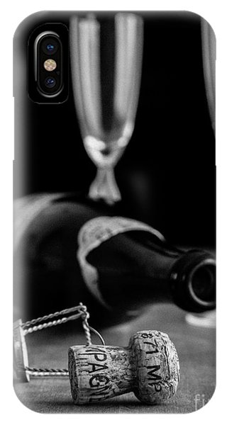 Champagne Bottle Still Life IPhone Case