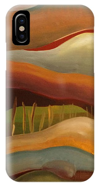 Champignons Landscape 3 In Work IPhone Case
