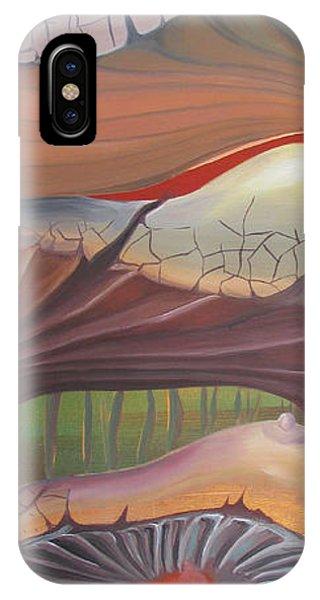 Champignons Landscape IPhone Case