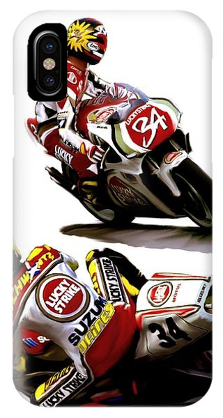 Champion 34  Kevin Schwantz IPhone Case