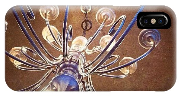 Decorative iPhone Case - Chandelier In Blue by Suzanne Goodwin