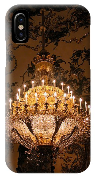 IPhone Case featuring the photograph Chandelier Palacio Real by Michael Kirk