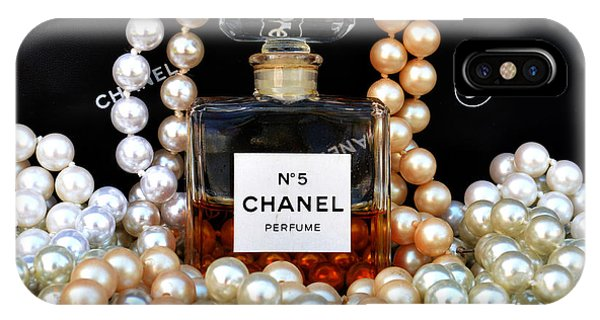 Scent iPhone Case - Chanel No 5 With Pearls by To-Tam Gerwe