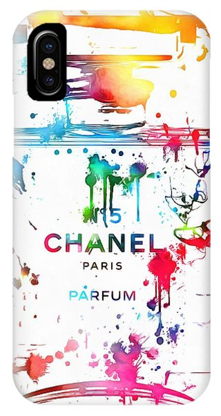 Scent iPhone Case - Chanel Number Five Paint Splatter by Dan Sproul