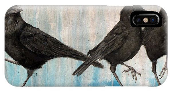 Different iPhone Case - Crow Takes Tea by Marie Vuuren