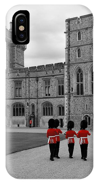 Changing Of The Guard At Windsor Castle IPhone Case