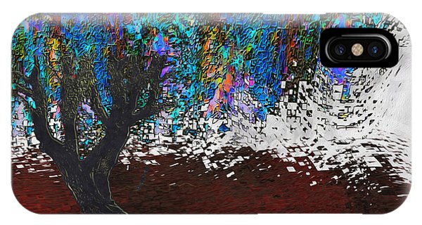 Digital Effect iPhone Case - Changing Tree by Jack Zulli