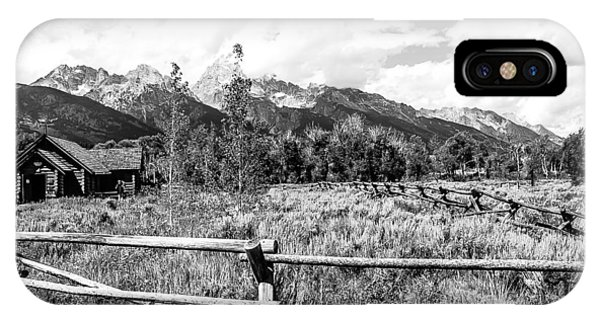 Chapel And Grand Tetons Lan 557 IPhone Case