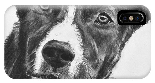Charcoal Dog Shepherd IPhone Case