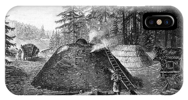 Charcoal Production, 19th Century IPhone Case