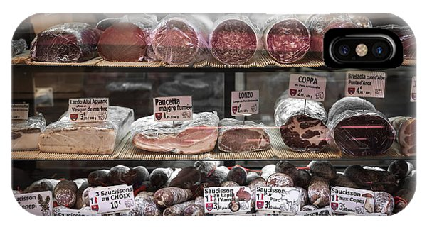 French Riviera iPhone Case - Charcuterie On Display In Butcher Shop In Old Nice by Elena Elisseeva