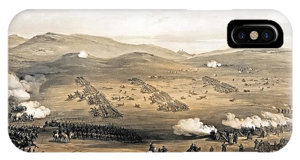 IPhone Case featuring the painting Charge Of The Light Cavalry Brigade by William Simpson