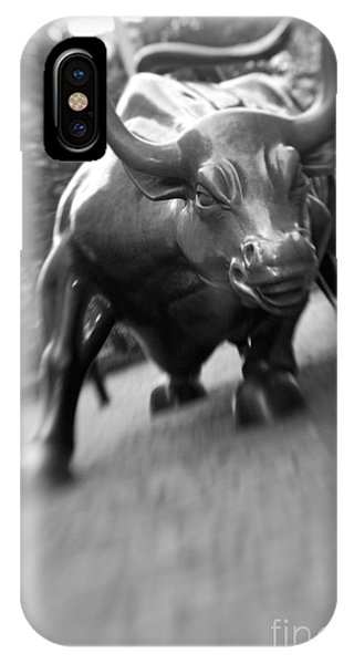 Charging Bull 2 Phone Case by Tony Cordoza
