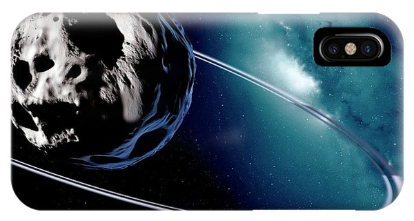 Chariklo Minor Planet And Rings IPhone Case