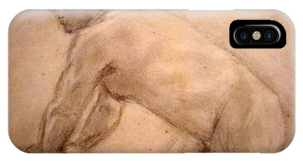 Charity Figure Drawing 2 Phone Case by Steve Spagnola