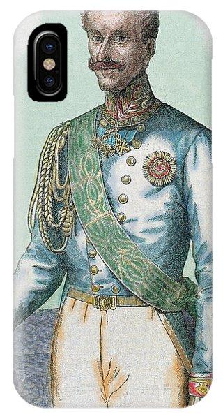 King Charles iPhone Case - Charles Albert (turin 1798-porto by Prisma Archivo
