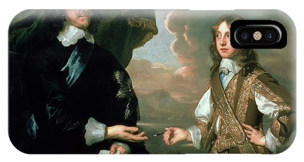 King Charles iPhone Case - Charles I And James, Duke Of York by Sir Peter Lely