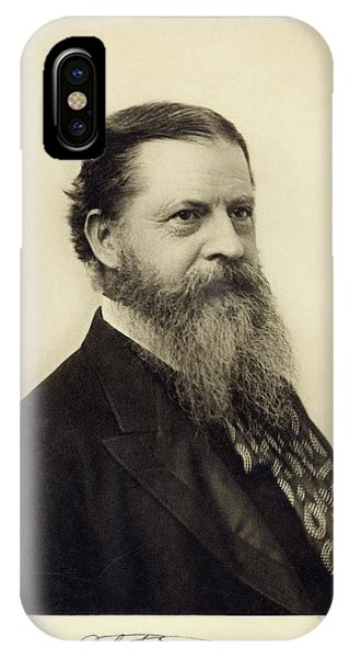 Head And Shoulders iPhone Case - Charles Sanders Peirce by Miriam And Ira D. Wallach Division Of Art, Prints And Photographs/new York Public Library
