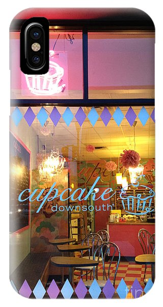 Window Shopping iPhone Case - Charleston Cupcake Cafe - Southern Charming Cupcake Down South Colorful Cupcake Shop by Kathy Fornal