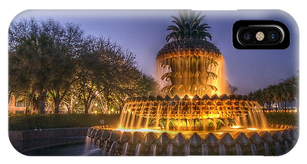 Charleston Pineapple Fountain IPhone Case