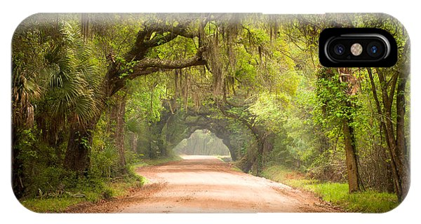 Charleston Sc Edisto Island Dirt Road - The Deep South IPhone Case