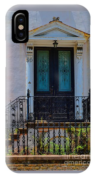 Charleston Wood Door Etched Glass IPhone Case