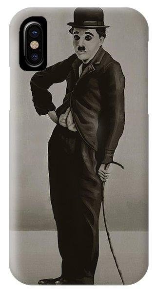 Paris iPhone Case - Charlie Chaplin Painting by Paul Meijering