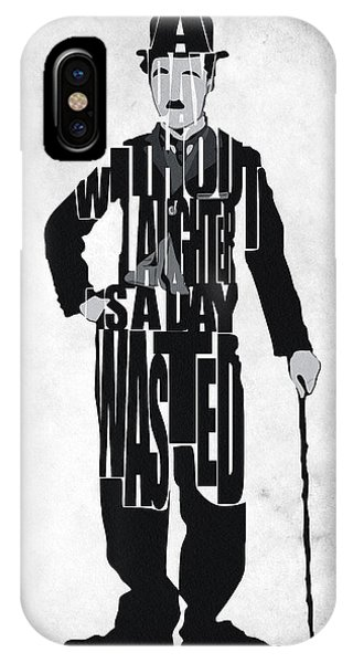 Charlie Chaplin Typography Poster IPhone Case