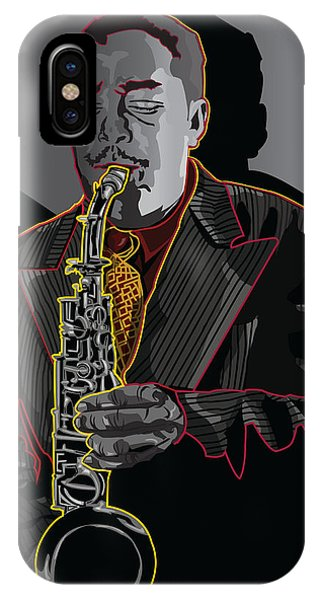 Charlie Parker Jazz  Saxophone Legend Phone Case by Larry Butterworth