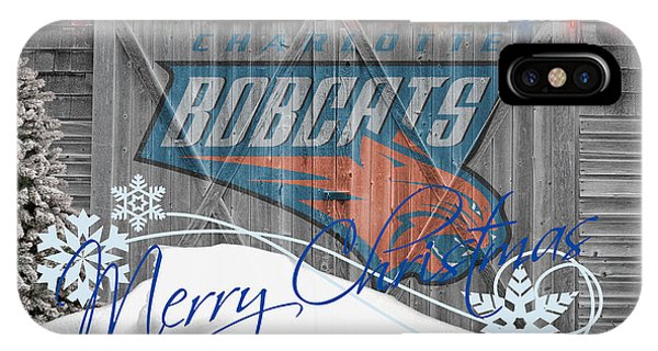 Bobcats iPhone Case - Charlotte Bobcats by Joe Hamilton