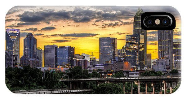 Downtown iPhone Case - Charlotte Dusk by Chris Austin