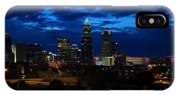 Charlotte North Carolina Panoramic Image IPhone Case