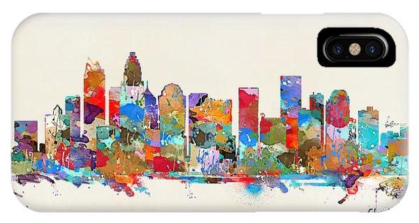 North Carolina iPhone Case - Charlotte Skyline North Carolina by Bri Buckley