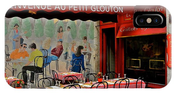 Charming French Outdoor Cafe IPhone Case