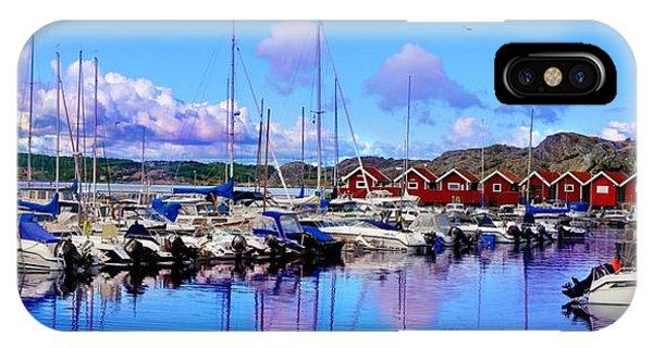 Charming Marina Orust Sweden IPhone Case