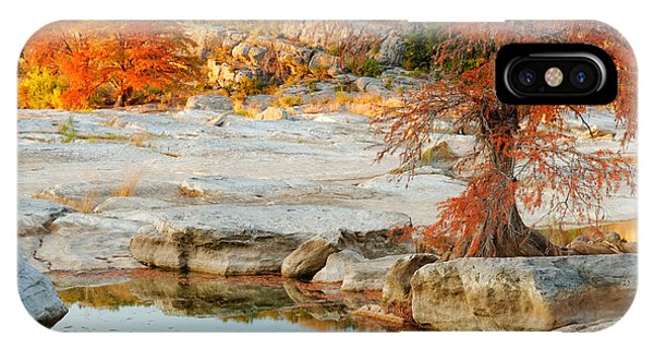 Bald Cypress iPhone Case - Chasing The Light At Pedernales Falls State Park Hill Country by Silvio Ligutti