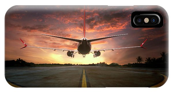Airplanes iPhone Case - Chasing The Sunset by Ganjar Rahayu