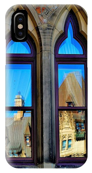 Chateau Laurier - Parlaiment Window - Reflection # 1 IPhone Case