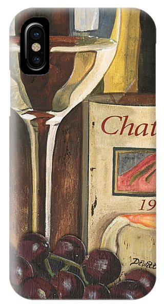 Grape iPhone X Case - Chateux 1965 by Debbie DeWitt