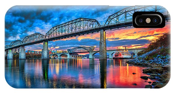 Amber iPhone Case - Chattanooga Sunset 3 by Steven Llorca